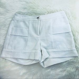 J. McLaughlin White Diamond Pattern Shorts Sz 2